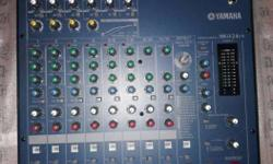 dj live sound mixer yamaha mg 124cx as new as condition