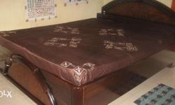 Bed:¬ Wooden Double Bed 5 x 6.25 feet with Storage