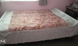 Box bed in good condition with new mattress