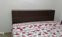 Double bed with box and mattress