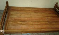 Teak Wood Cot 6x4 - 2 Month Old 2 Cots available Rs.