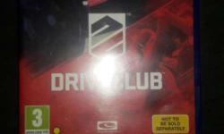 drive club ps4 i n very good condition and in good