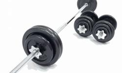 dumbells and barbells of 50kilos... brand new...no