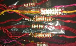 Each stone Rakhi is 20 & 30/- only others are 10 & 5/-
