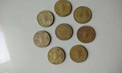 Eight Coppers Coins