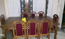 Eight seater dining table in good condition
