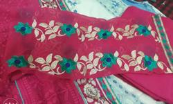 Embriodery suit with lining & dupatta.New Piece