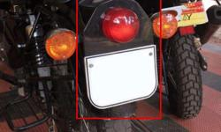enfield classic tail lamp with number plate shield 7