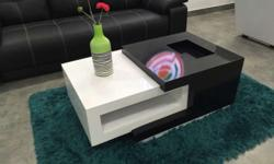 Exclusively contemporary designed tv unit in white and