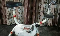 White And Red Stationary Bicycle
