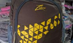 Brown And Yellow Zabco Backpack