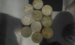 Extremely rare 25 paise coins 10 of them from 1972 to