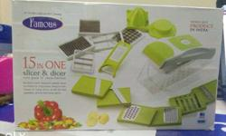 famous 15 in 1 slicer and dicer brand new box pack.