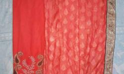 Fancy Saree with embroidery work done brought from