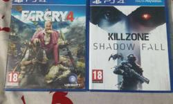 Farcry 4 And Killzone Shadow Fall Sony PS4 Game