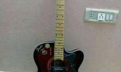 Fender Semiacoustic Guitar with electric guitar Pickup.
