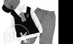 Classy and cute designer black and white kids cotton