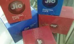 Five Red And Blue Jio Digital Life Boxes