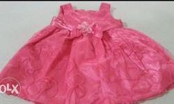 For 1year girl..only 1 time use..very pretty frock..