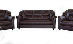 forgien leather five seater new sofa set 3+1+1