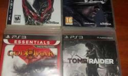 Four PS3 Game Disc
