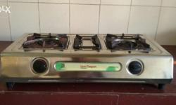 Very good condition gas stove with regulator.