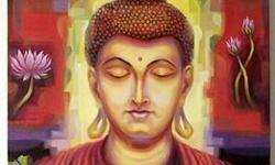 Gautam Buddhas in oil on canvas in variety in size and