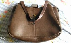 Brand - Stamp Leather Genuine Leather Handbag with 6
