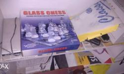 Glass chess in almost new