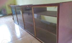 Glass counter brown