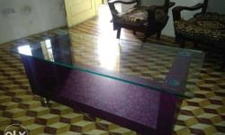 glass top centre table newly built