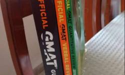 GMAT exam books for preparation. In new condition.