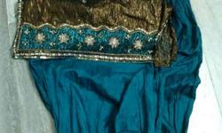 Gold-colored And Blue Traditional Dress