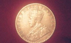 Gold Round George King Emperor Round Coin