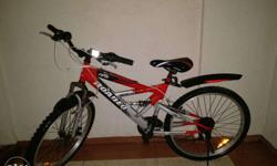 Good condition two year old cycle with disk brakes..