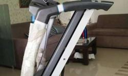 Gray And Black Electric Treadmill