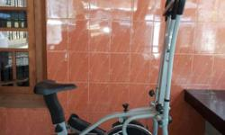 Gray And Black Elliptical Trainer Less used, good