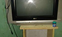 Gray And Black LG CRT Television