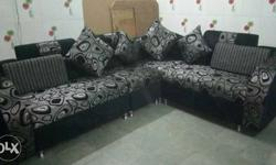 Gray And Black Sectional Sofa