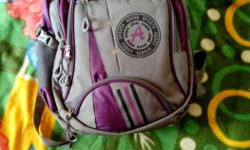 Gray And Purple Backpack