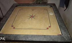Gray Beige And Red Carrom Board