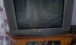 Gray Crt Tv 29 inch plus trolly