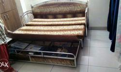 Gray Metal bed