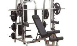 Gray Metal Combination Exercise Equipment