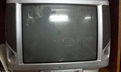 Silver colour 21 inchs Onida Widescreen CRT TV. With