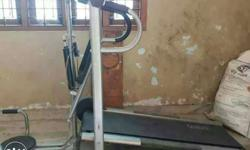 Gray Treadmill With Mini Stepper