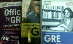 Very useful official and Princeton GRE books with many