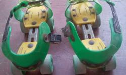 Green-and-yellow Roller Skates