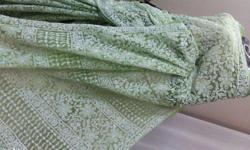 Green Allover Lucknow Chikan kari Georgette Saree with