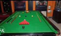 Green And Black Billiard Table